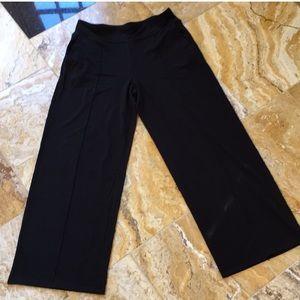 J. Jill Black wearever collection wide leg seamed